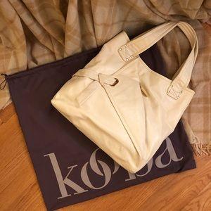 NWT Kooba Cream Leather Tote